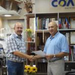 Вручение сертификатов консультантам Solatube 1